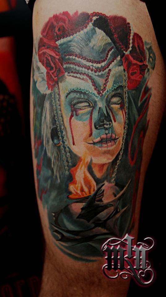 La Catrina Color Mornel Tattoos